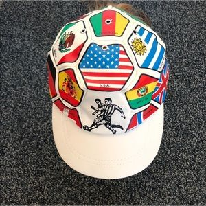 Vintage World Cup Flags National Teams Futbol Hat